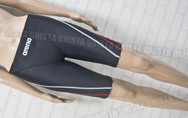 ARENA アリーナ SAR-7132 UROKOSKIN-ST MASTERS-SP ハーフスパッツ 男子競泳水着 ブラック・レッド