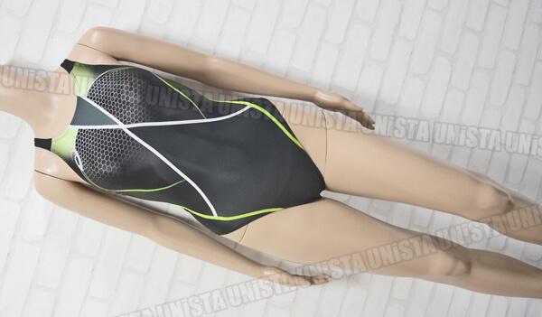 ASICS アシックス AL4001 SPLASHER-S スプラッシャーS レギュラー FINA女子競泳水着 ブラック・グリーン