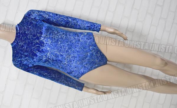 DL Dreamlight ドリームライト 女子体操競技 ロングスリーブレオタード ブルー