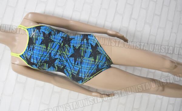 特注品 MIZUNO ミズノ 85OP-9888 EXERSUITS U-fit ダブルストラップ ミディアムカット 女子競泳水着 ブルー