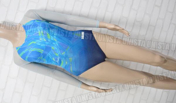 SASAKI ササキスポーツ NO.7232G 女子体操競技 ロングスリーブレオタード ブルー