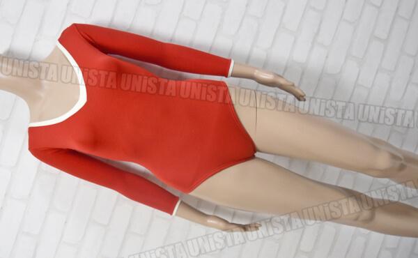SASAKI ササキスポーツ 女子体操競技 ロングスリーブレオタード レッド・ホワイト ゴールドウィン製