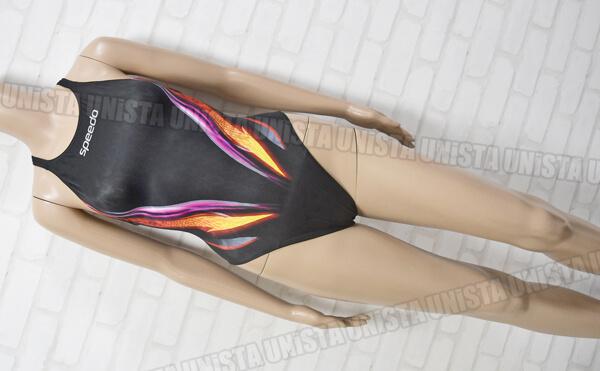 SPEEDO スピード AQUABLADE2 アクアブレード2 マーキュライン 女子競泳水着 mizuno製 ブラック・オレンジ