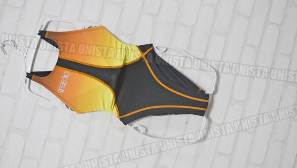 SPEEDO スピード 83OC-35297 FASTSKIN-ex AQUABLADE2ex ハイカット女子競泳水着 ブラック・イエロー