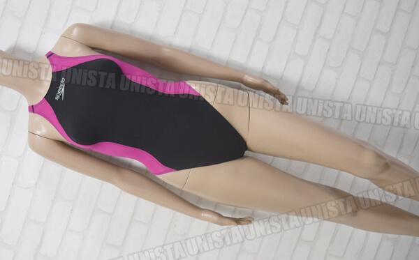 SPEEDO スピード SD40A01 FASTSKIN FS-PRO LZR PULSE ハイカット FINA女子競泳水着 ブラック・ピンク