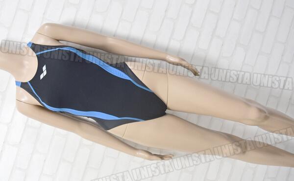 ARENA アリーナ FAR-0514W AQUAFORCE-PRISMA ニューリミック FINA女子競泳水着 ブラック・ブルー