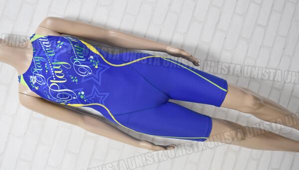 ARENA アリーナ FAR-5557W AQUA RACING UROKOSKIN ウロコスキン 着やストラップ ハーフスパッツ FINA女子競泳水着 ブルー