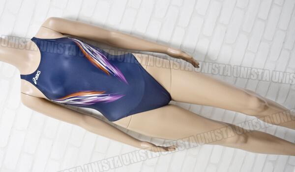 ASICS アシックス ALS03R HYDRO SP ハイドロSP スパイラルカット2 女子競泳水着 ネイビー