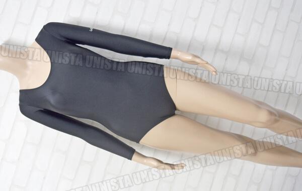 DESCENTE デサント LADYSPO DLS-705W 女子体操競技ロングスリーブレオタード 無地 ブラック