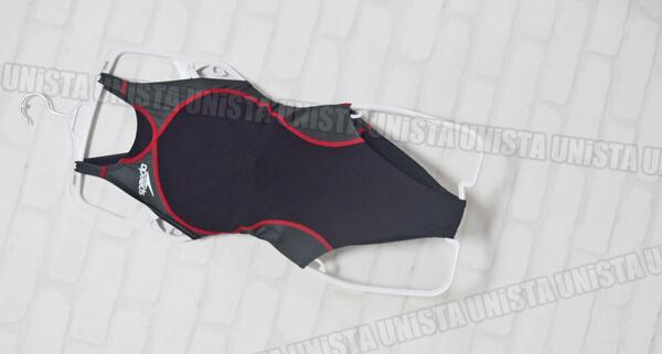 SPEEDO スピード SD38A51 flyingfish HYBRID ハイカット女子競泳水着 ブラック・レッド