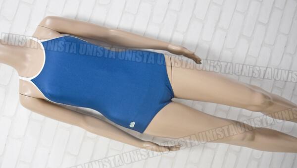 Silesta シルエスタ SE1500P 白パイピングワンピース水着・女子競泳水着 ネイビー