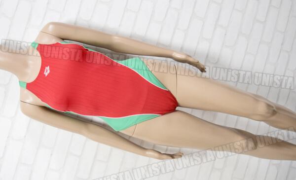 ARENA アリーナ ARN-0026WH RIMIC DOUBLEMAT-F NUX-D ハイカット女子競泳水着 レッド・グリーン