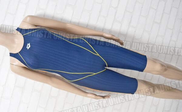ARENA アリーナ ARN-7021W STRUSH-J2 レーサーバック ハーフスパッツ 女子競泳水着 ネイビー・オレンジ