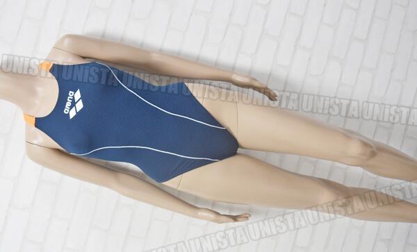 ARENA アリーナ FSA-5622W ハニカムエステル TOUGHSUIT 女子競泳水着 ネイビー・オレンジ