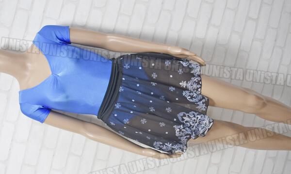 Natarsia & chacott ナターシャ&チャコット 女子バレエ・ダンス 半袖レオタード+プルオンスカート 2点セット