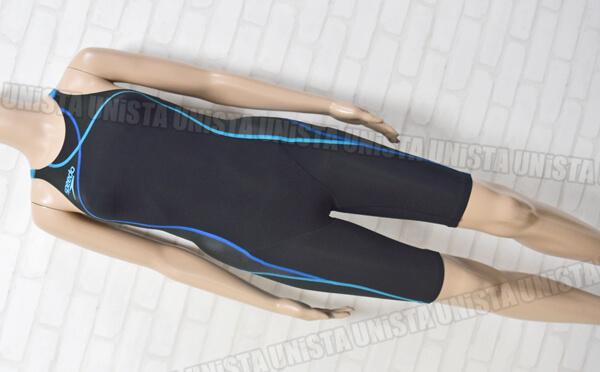 SPEEDO スピード SD40H51 Fastskin-XT HYBRID ショートジョン FINA女子競泳水着 ブラック・ブルー