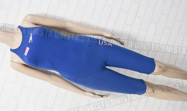 SPEEDO スピード SD48H01R FASTSKIN FS-PRO NATIONAL TEAM REPLICA ショートジョン 女子競泳水着 ブルー