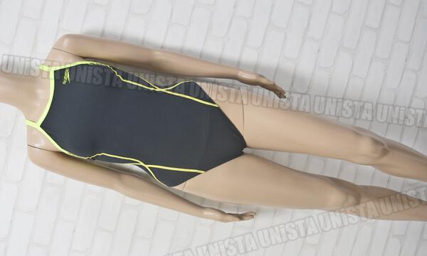 SPEEDO スピード SD56T01 ENDURANCE-J エンデュランスJ トレインカットスーツ 女子競泳水着 ブラック・蛍光イエロー