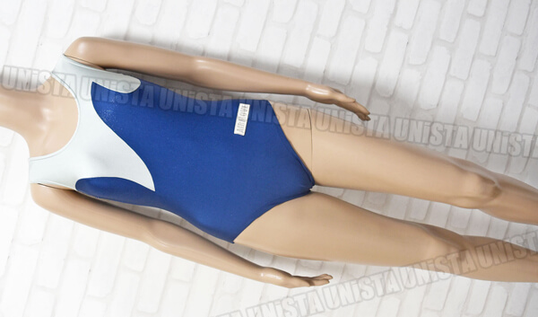 AIRMOVE エアムーブ 女子体操競技 ノースリーブレオタード ネイビー・グレー