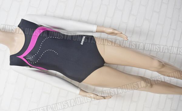 AIRMOVE エアムーブ 女子体操競技 ロングスリーブレオタード ブラック・ピンク