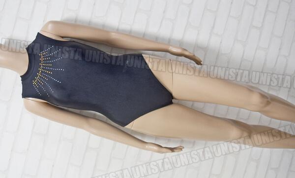 AIRMOVE エアムーブ 女子体操競技 ノースリーブレオタード ブラック