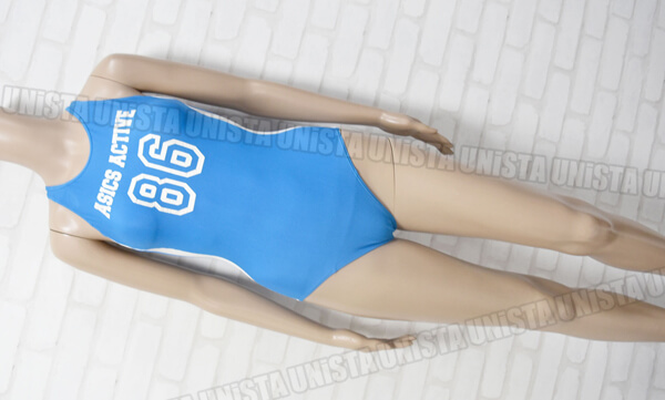 ASICS アシックス ALR008 レーサーバック型ワンピース水着・女子競泳水着 ライトブルー