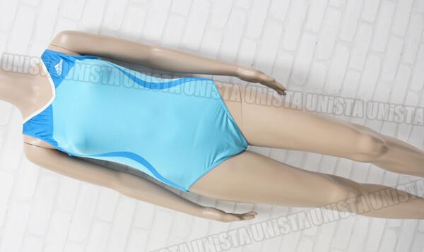 GK ELITE adidas アディダス 3ストライプ 女子体操競技 ノースリーブレオタード ライトブルー