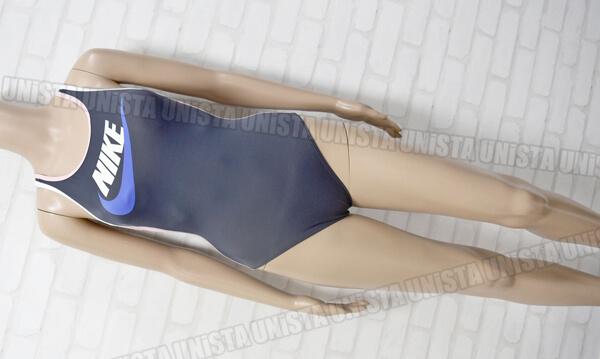 NIKE ナイキ レーサーバック型ワンピース水着・女子競泳水着 グレー・ピンク