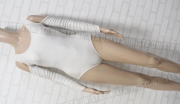 Natarsia ナターシャ by chacott 女子バレエ・ダンス マムルークスリーブレオタード オフホワイト