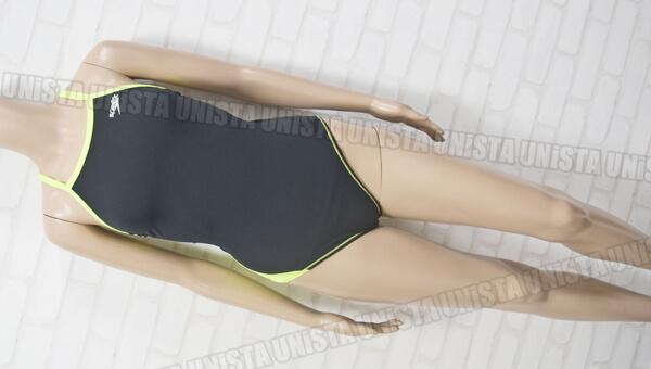 SPEEDO スピード SD54T01 ENDURANCE-J ドリームチーム トレインカットスーツ 女子競泳水着 ブラック・蛍光イエロー