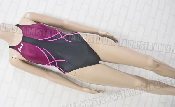 ASICS アシックス ALS409 TLINER ティーライナー HYDRO SP ハイドロSP ハイカット女子競泳水着 パープル・ブラック