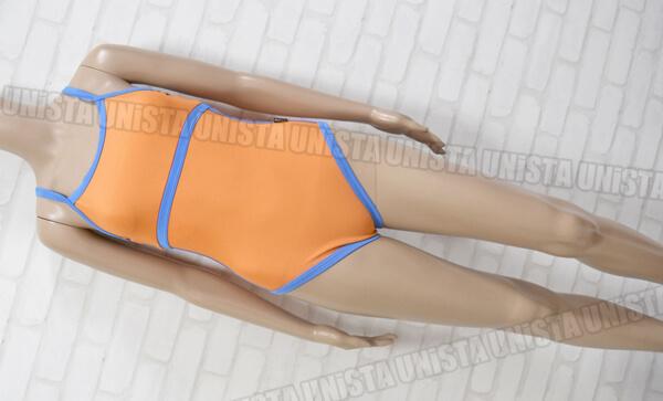 TYR 旧ティア ワンピース水着・女子競泳水着 オレンジ・ブルー