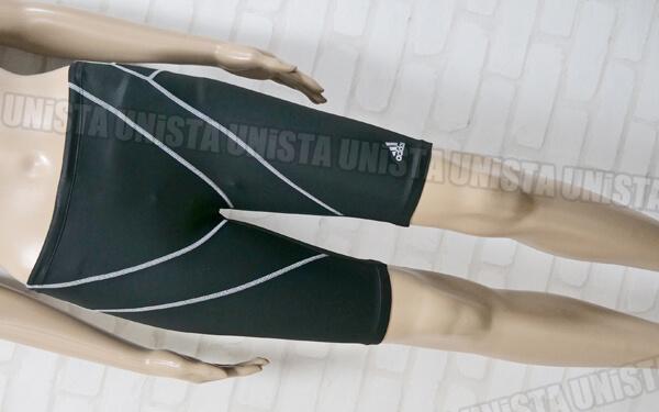 adidas アディダス 3STRIPES ハーフスパッツ 男子競泳水着 ブラック