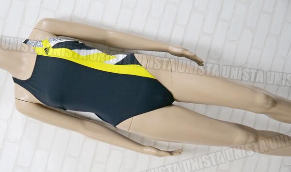 adidas アディダス Q81130 INFINITEX+ インフィニテックス XOバック型女子競泳水着 ブラック・イエロー