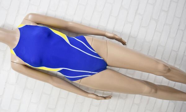 ARENA アリーナ FAR-0524WH NUX-W・D ハイカット FINA女子競泳水着 ブルー・イエロー