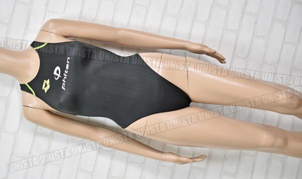 ARENA アリーナ Phiten ファイテン FAR-2503WC X-PYTHON エックスパイソン ハイカット女子競泳水着 ブラック