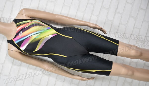 ARENA アリーナ ARN-8062W UROKOSKIN-ST ウコロスキンST 着やストラップ FINA女子競泳水着 ブラック・イエロー