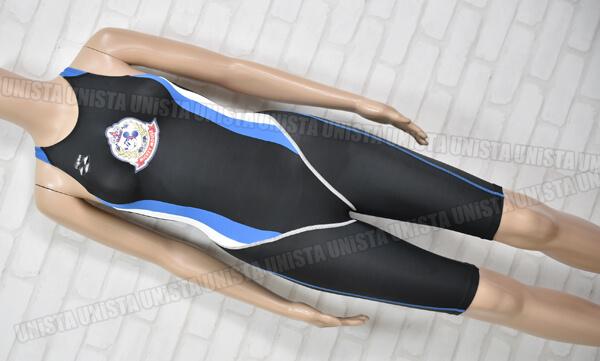 ARENA アリーナ DIS-1311W NUX-D・W ハーフスパッツ女子競泳水着 ブラック・ブルー