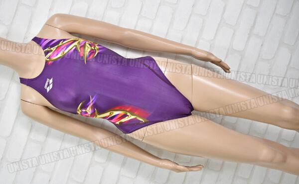 ARENA アリーナ FAR-9573WH NUX-F ニュークスF ハイカット 女子競泳水着 パープル