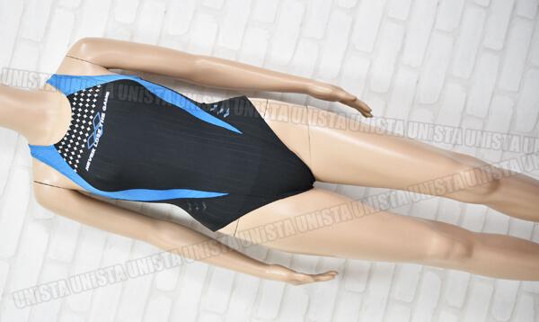 ARENA アリーナ STRUSH ストラッシュ RIMIC ハイカット女子競泳水着 ブラック・ライトブルー