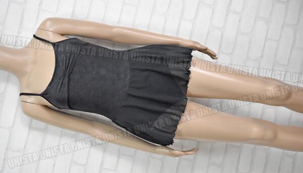Chacott チャコット NO.6743-19033 女子バレエ・ダンス レイヤード スカート型ノースリーブレオタード ブラック