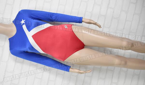 GK ALITE 女子体操競技 ロングスリーブレオタード USAカラー