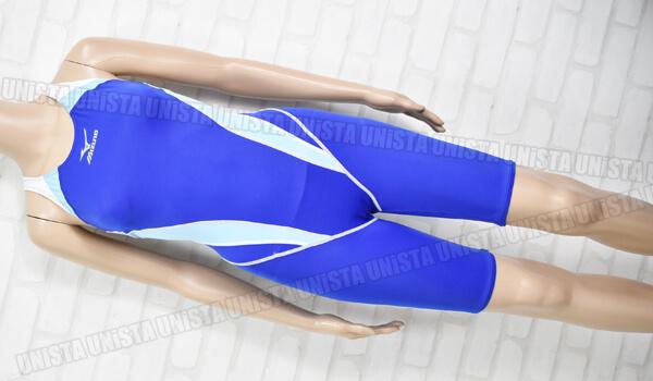 MIZUNO ミズノ 85EI-940 パレットレーベル ハーフスパッツ女子競泳水着 ブルー・ライトブルー