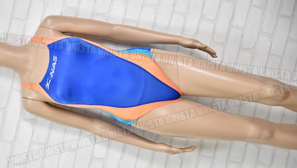 MIZUNO ミズノ NASスイミングスクール指定競泳水着 ブルー・オレンジ