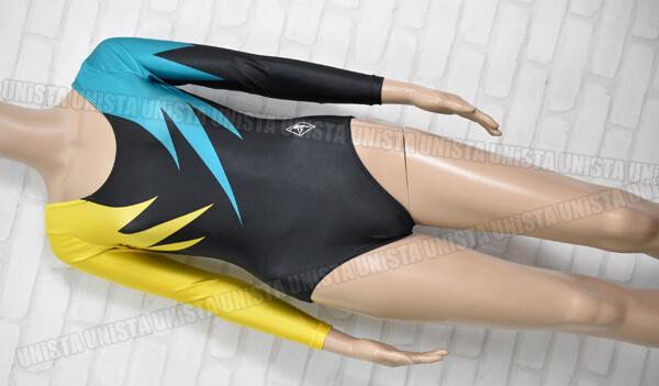 SASAKI ササキスポーツ 女子体操競技 ロングスリーブレオタード ブラック・イエロー