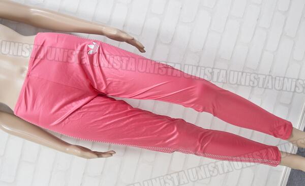 adidas アディダス G36501 ツルテカ素材 ロングスパッツ ピンク