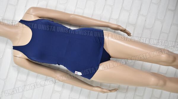 ニッキー 東レナイロン使用 日本全国協議会推薦 旧型ワンピース水着・女子競泳水着 ネイビー