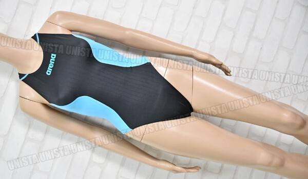 ARENA アリーナ ARN-7025W X-PYTHON2 クロスバック RIMIC ハイカット FINA女子競泳水着 ブラック・ライトブルー