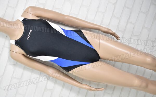 KITZ スイミングスクール指定 女子競泳水着 ブラック・ブルー
