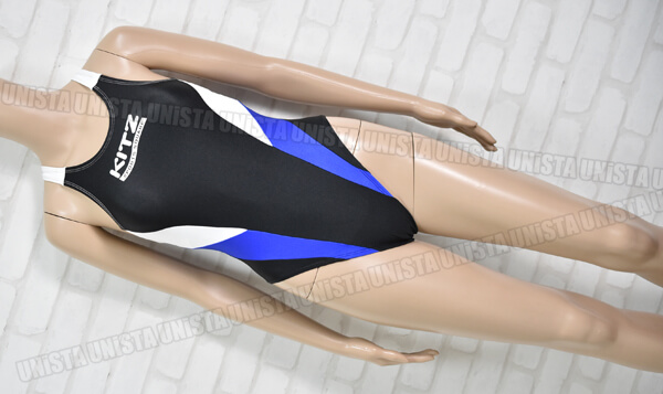 小松ニット製 KITZ スイミングスクール指定 女子競泳水着 ブラック・ブルー